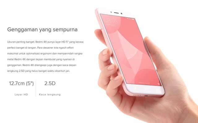 Harga dan Spesifikasi Xiaomi Redmi 4x